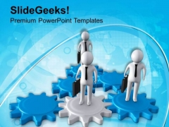 Gear The Team Spirit PowerPoint Templates Ppt Backgrounds For Slides 0613