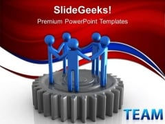 Gear Unity Team Business PowerPoint Templates And PowerPoint Themes 0512