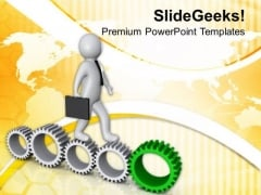 Geared Approch Can Give You Success PowerPoint Templates Ppt Backgrounds For Slides 0713