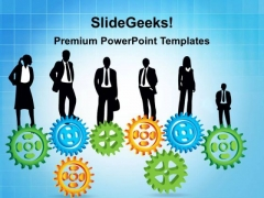 Gears Business Concept PowerPoint Templates And PowerPoint Themes 0212