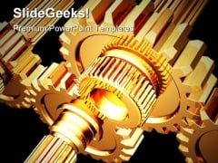 Gears Industrial PowerPoint Background And Template 1210