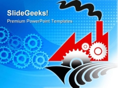 Gears Of Factory Industrial PowerPoint Themes And PowerPoint Slides 0311