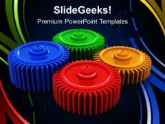 Gears Process Communication PowerPoint Templates And PowerPoint Themes 0512