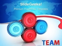 Gears Process Technology PowerPoint Templates And PowerPoint Themes 0512