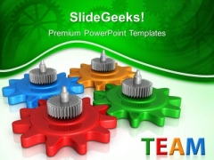 Gears Team Business PowerPoint Templates And PowerPoint Themes 0512