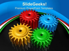 Gears Team Communication PowerPoint Templates And PowerPoint Themes 0512