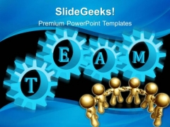 Gears Team Teamwork PowerPoint Templates And PowerPoint Themes 0412