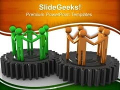 Gears Team Teamwork PowerPoint Templates And PowerPoint Themes 0512
