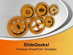 Gears The Business Process PowerPoint Templates Ppt Backgrounds For Slides 0613