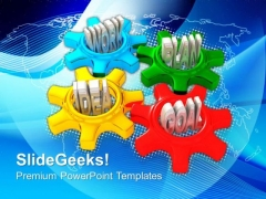 Gears Turn In Conjunction Gearwheels PowerPoint Templates And PowerPoint Themes 0812