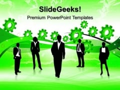 Gears With Team People PowerPoint Templates And PowerPoint Themes 0512