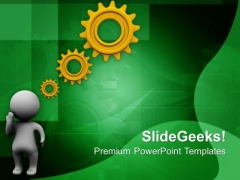 Generate Geared Ideas For Business Progress PowerPoint Templates Ppt Backgrounds For Slides 0713