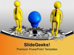 Generate New Business And Process Gear Ideas PowerPoint Templates Ppt Backgrounds For Slides 0613
