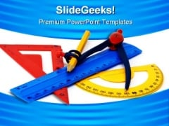 Geometry Items Education PowerPoint Template 0810