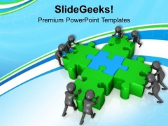 Get Best Solution With Team Effort PowerPoint Templates Ppt Backgrounds For Slides 0713