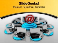 Get Connected With Internet For Global PowerPoint Templates Ppt Backgrounds For Slides 0713