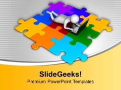 Get The Solution Through Internet PowerPoint Templates Ppt Backgrounds For Slides 0713