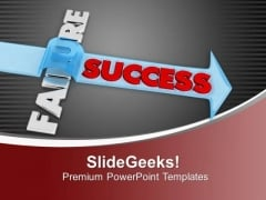 Get The Success After Failure PowerPoint Templates Ppt Backgrounds For Slides 0713