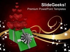 Gift Box Of Heart And Love PowerPoint Templates Ppt Backgrounds For Slides 0213