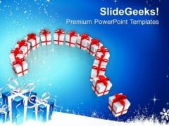 Gift Boxes In Question Symbol Abstract PowerPoint Templates Ppt Backgrounds For Slides 0413