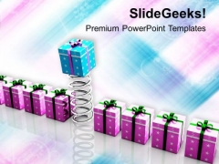 Gift Coming Out Of Spring PowerPoint Templates Ppt Backgrounds For Slides 0413