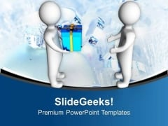Gift Exchange Is A Great Ideas PowerPoint Templates Ppt Backgrounds For Slides 0713