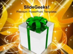 Gift On Christmas Background PowerPoint Templates Ppt Backgrounds For Slides 1112