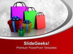 Gifts And Shopping Bags Marketing PowerPoint Templates Ppt Backgrounds For Slides 0113
