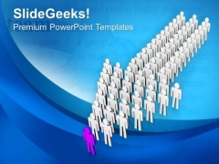 Give A Direction To Your Team PowerPoint Templates Ppt Backgrounds For Slides 0713