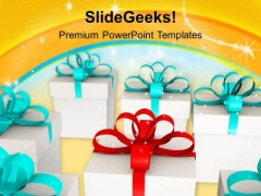 Give Gifts To Your Friends And Family PowerPoint Templates Ppt Backgrounds For Slides 0413