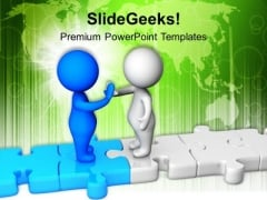 Give High Five For Business Success PowerPoint Templates Ppt Backgrounds For Slides 0613
