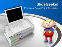 Give Laptop To Your Kids For Education PowerPoint Templates Ppt Backgrounds For Slides 0613