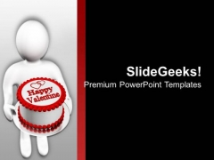 Give Sweet Wishes Of Valentine Day This Year PowerPoint Templates Ppt Backgrounds For Slides 0713