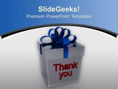 Give Thank You Gift PowerPoint Templates Ppt Backgrounds For Slides 0413