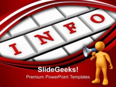 Give The Info For Business Relation PowerPoint Templates Ppt Backgrounds For Slides 0613