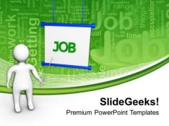Giving Presentations For Job Career Development PowerPoint Templates Ppt Backgrounds For Slides 0513