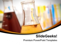 Glass Equipment In Lab Science PowerPoint Themes And PowerPoint Slides 0811