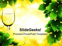 Glass Of Wine Lifestyle PowerPoint Themes And PowerPoint Slides 0511