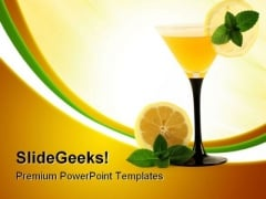 Glass With Cocktail Health PowerPoint Themes And PowerPoint Slides 0411