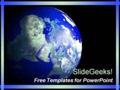 Blue Global PowerPoint Template