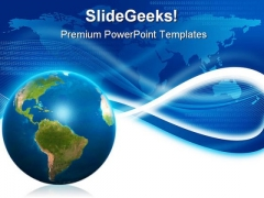 Global Abstract Business PowerPoint Template 0910