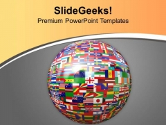 Global Atlas With All Countries Flags PowerPoint Templates Ppt Backgrounds For Slides 0513