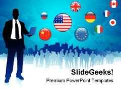 Global Business Communication PowerPoint Templates And PowerPoint Backgrounds 0711