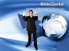 Global Business PowerPoint Background And Template 1210