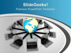 Global Communication Concept PowerPoint Templates Ppt Backgrounds For Slides 0713