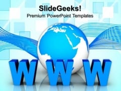 Global Communication Concept Www Internet PowerPoint Templates And PowerPoint Themes 0812