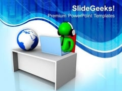 Global Communication Is Required In Business PowerPoint Templates Ppt Backgrounds For Slides 0613