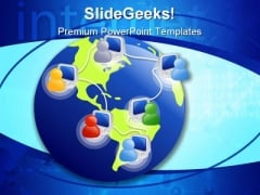 Global Communications People Internet PowerPoint Template 0810