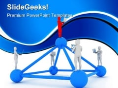 Global Computer Network Leadership PowerPoint Themes And PowerPoint Slides 0911
