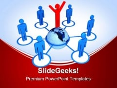 Global Connection Business PowerPoint Templates And PowerPoint Backgrounds 0411